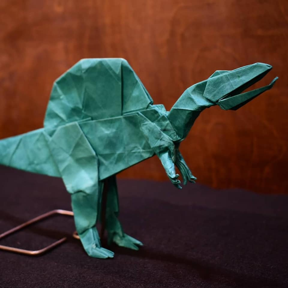 dinosaur origami image for temporary exhibit